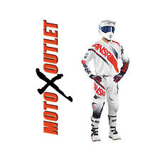 2017 Answer Syncron Motocross Dirt Bike Gear Pants Jersey MX Adult Kids Wht Red