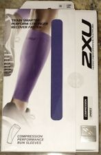 NEW Unisex M L 2XU Compression Performance Run Calf Sleeve Pair Lavender Running