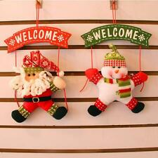 Merry Christmas Door Wall Hanging Snowman Santa Deer Xmas Tree Party Ornament