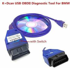 K+DCAN USB Interface with Switch OBDII Diagnostic Cable INPA EDIABAS For BMW