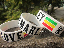 BOB MARLEY One Love Silicone Filled in Colour Wristband Bracelet