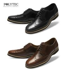 MO03 Casual Daily Comfort Formal Mens Leather Dress Shoes Wing Tip Derby Oxford
