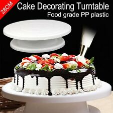 28cm Rotating Cake Decorating Turntable MODELLING tool Display Stand Mould GN