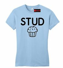 Stud Muffin Funny Juniors T Shirt Cute Holiday Gift College Fitted Tee Shirt