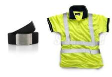 Standsafe Reflective Security Hi Vis Work Polo T-Shirt, Yellow FREE BELT
