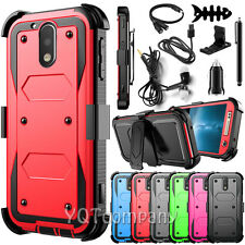 Hybrid Rugged Hard Case Cover Belt Clip Holster for Motorola Moto G4 / G4 Plus