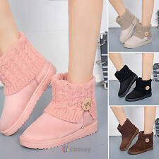 Women Suede Snow Boots Ankle Winter Short Booties Warm Shoes Christmas Xmas Gift
