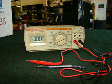 Beckman Industrial 350 Digital Multimeter Battery Operated with Leads No LID