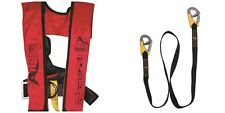 Alpha 160N Automatic Lifejacket & Harness + Free Double Safety Line - New MS1