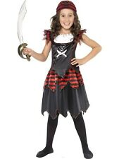 Childrens Gothic Pirate Girls Book Week Fancy Dress Kids Party Costume Outfit