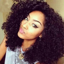 Heat Resistant Black Lace Front Full Wigs Long Wavy Curly Synthetic Hair Wig #w5