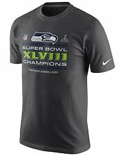 Seattle Seahawks Nike Super Bowl XLVIII Champions Trophy Locker Room Shirt Grey
