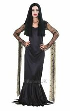 Halloween Party Adult Sexy Morticia Addams Ladies Fancy Dress Costume Outfit