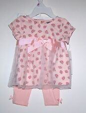 NWTS GUESS BABY FLORAL PRINT DRESS/LEGGING SET SUMMER DRESSY 0-3, 3-6. 6-9 MONTH