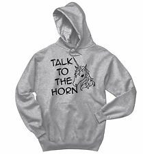 Talk To The Horn Funny Unicorn Sweatshirt Horse Unicorn Lover Gift Hoodie