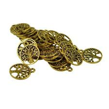 30/50Pcs Wholesale Tree of Life Pendants Charms DIY Necklace Jewelry Connnectors