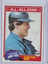 1981 Topps #480 Carlton Fisk Boston red Sox