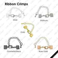 [HS] Jewelry Findings - Cord Closures - Ribbon Crimps