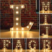 A - Z Style Wood LED Marquee Letter Alphabet Symbol Sign Vintage Circus Lights