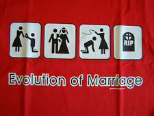 NEW FUNNY MARRIAGE TSHIRT - The Evolution of Marriage