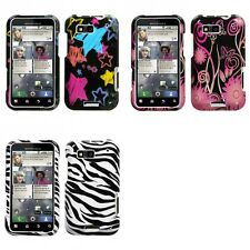 For Motorola MB525 (Defy) Chalkboard Star Phone Protector Case Cover