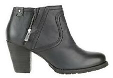 Clarks Artisan Ladies Ankle Boots Macay Halle Black Leather