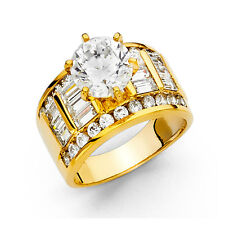 14k Yellow Gold 3.50 Ct Diamond Engagement Ring Wedding Ring Solitaire Baguette