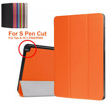 Slim Smart Leather Case Cover For Samsung Galaxy Tab A 10.1 With S Pen P580 P585