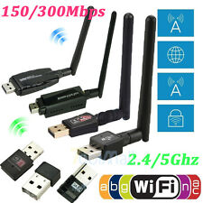 802.11n/g/b 150/300Mbps USB WiFi Wireless Adapter Network LAN Card w/Antenna