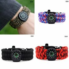 New Rope Outdoor Survival Buckle Shackle Steel Camping Hiking Paracord Bracelet