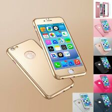 For Apple iPhone 7 Shockproof  360° Hard Ultra thin Case + Tempered Glass Cover