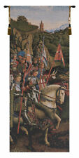 Knights Of Christ Belgian Medieval Horse and Knight Tapestry Wall Hanging NEW