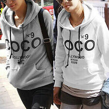 Hot Sale Womens Hoodie COCO Print Coat Sweatshirt Outerwear Tracksuit Top JK