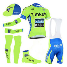Cycling jersey Complete Set bibs shorts saxo bank cycling wear team thinkoff