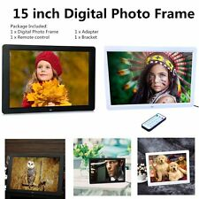 "15"" inch LED HD Resolution Digital Picture Photo Frame + Remote Controller JK"