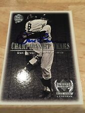 2000 Upper Deck Yankees Legends Championship Years Don Larsen Autograph
