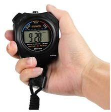 New Stopwatch LCD Sports Stop Watch Chronograph Time Date Alarm Timer Count