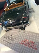 Franklin Mint 1949 Ford Custom Convertible Limited Edition of 2500