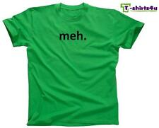 MEH Funny Geek Nerd Retro College Cool Party Tee - Mens T-Shirt - NEW - Green