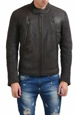 Maison Martin Margiela Men's Leather Shearling Brown Jacket  Size S M L