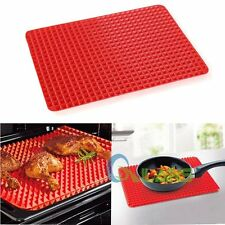 5/10pcs Lot Pyramid Pan Non Stick Silicone Cooking Mat Oven Baking Tray Sheets