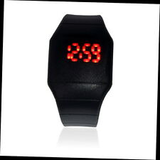 Unisex LED Digital Touch Screen Jelly Watch Wristwatch Plastic ultra-thin ZX