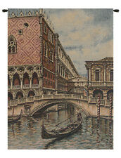 Venice Italian Woven Cityscape Tapestry Wall Hanging Tapestry