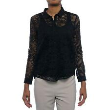 The Kooples FCC718 Long Sleeve Collared Button Down Women Button Down