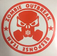 """Zombie Outbreak Response Team Vinyl Window Decal Sticker 5"""" Choose Your Color"""