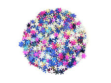 Assorted 14mm Frozen Style Snowflake Sequins