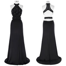 Floor-Length Halter Bodycon Long Formal Evening Prom Party Dress Pageant GOWNS