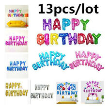 "16 Inch ""HAPPY BIRTHDAY"" Letters 13 Pcs Foil Balloons Party Decoration 6Colors"