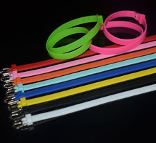 Double Wrap Soft Rubber Wristband Bracelet Fit 8mm Slide Charms DIY Accessory