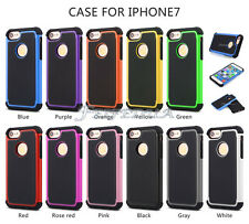 Football Grain PC+Silicone Hybrid Hard Armor Back Cover Case for iPhone 6 7 Plus